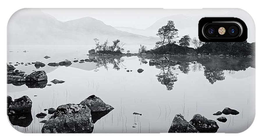 Black Mount IPhone X Case featuring the photograph Lochan Na H-achlaise by Stephen Taylor