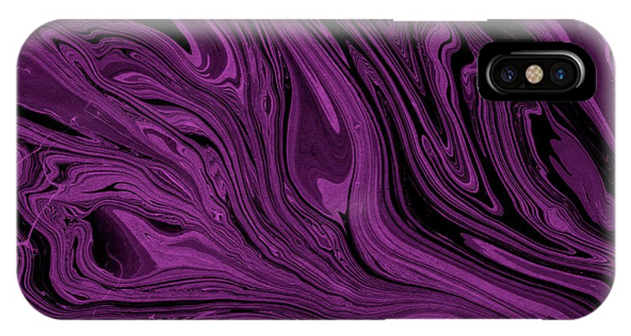 Marble IPhone X Case featuring the digital art #17 by Alina Debris