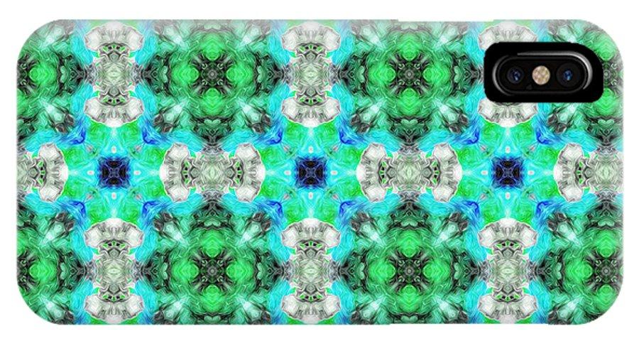 Marjan Mencin IPhone X Case featuring the digital art Arabesque 109 by Marjan Mencin