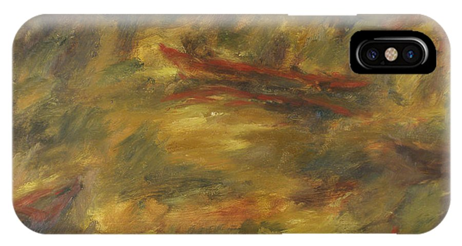 River IPhone X Case featuring the painting River by Robert Nizamov