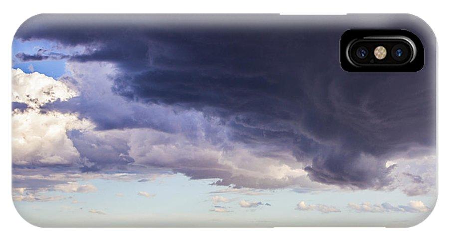 Nebraskasc IPhone X Case featuring the photograph Afternoon Nebraska Thunderstorm by NebraskaSC