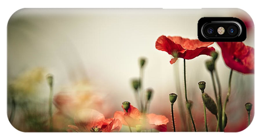 Poppy IPhone X Case featuring the photograph Poppy Meadow by Nailia Schwarz