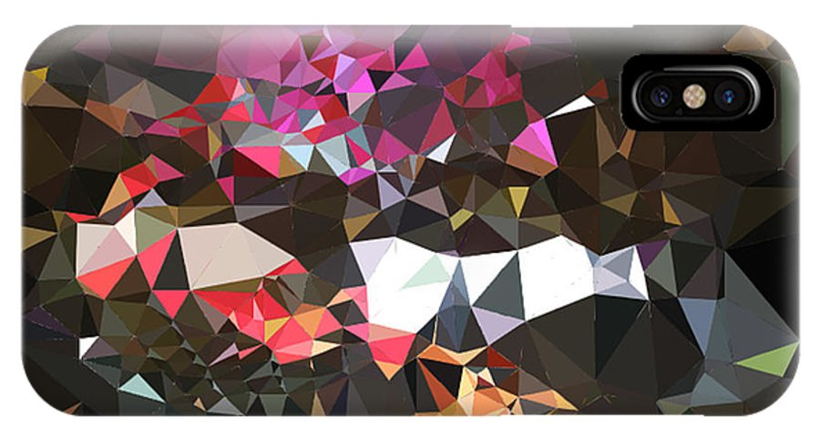 Texture Abstract Urban Modern Canvas Acrylic Spray Paint Contemporary Modern Gift Decorative Painting Minimalism Expressionism Modern Lights Art Fashion Design Night Print Juan Mildenberger Photographs Gift Wall Office Mixed Media 3d Effect Visual IPhone X Case featuring the painting Untitled by Juan Mildenberger