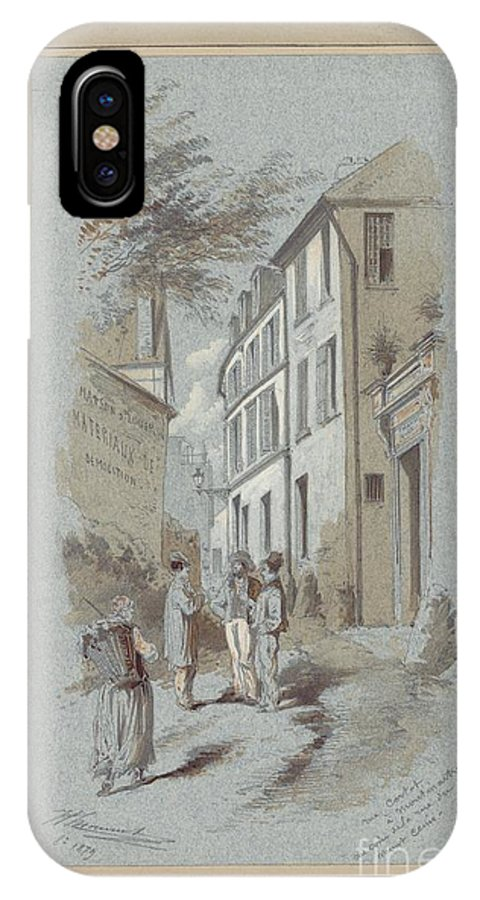 Drawn To Paris - Sketch Record Of Paris Buildings & Street Scenes From The 2nd Half Of The 19th Century - St Antoine N� 95 (1894) IPhone X Case featuring the painting Drawn To Paris by Celestial Images