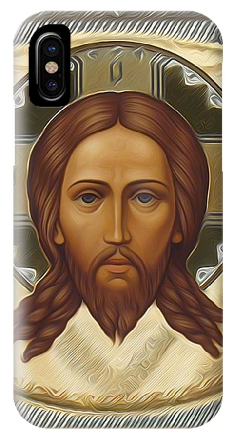 Jesus IPhone X Case featuring the digital art Jesus Christ God by Carol Jackson