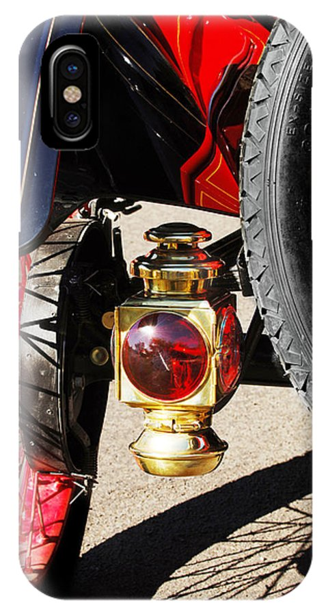 Horseless Carriage IPhone X Case featuring the photograph 1911 Ford Model T Torpedo Lamp by Jill Reger