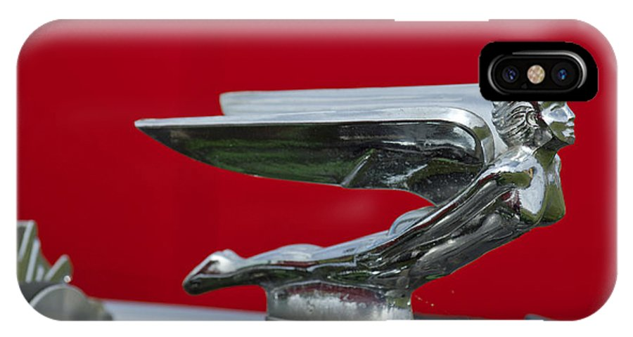 1924 Ford IPhone X Case featuring the photograph 1924 Ford Hood Ornament by Jill Reger