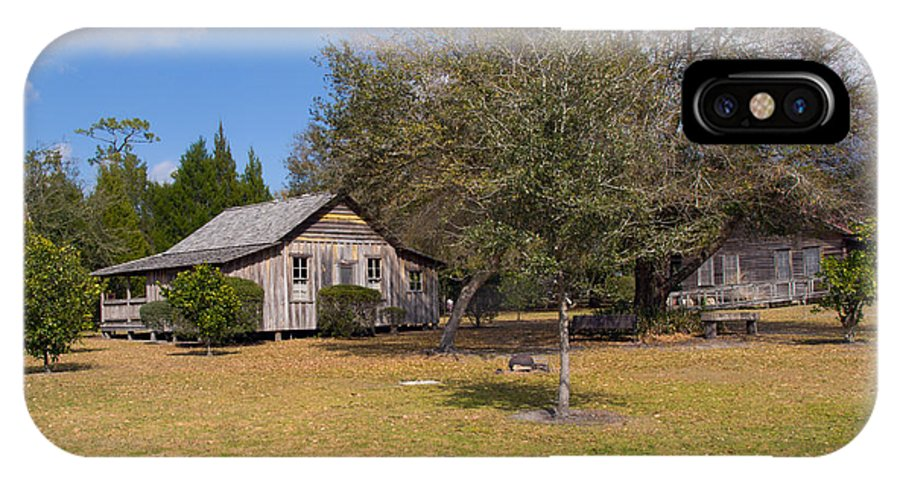 Cabin IPhone X Case featuring the photograph 1927 Woods Home In Christmas Florida by Allan Hughes