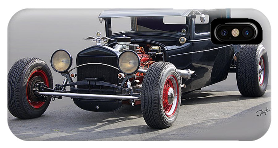 Auto IPhone X Case featuring the photograph 1928 Chrysler Coupe 'studio' II by Dave Koontz