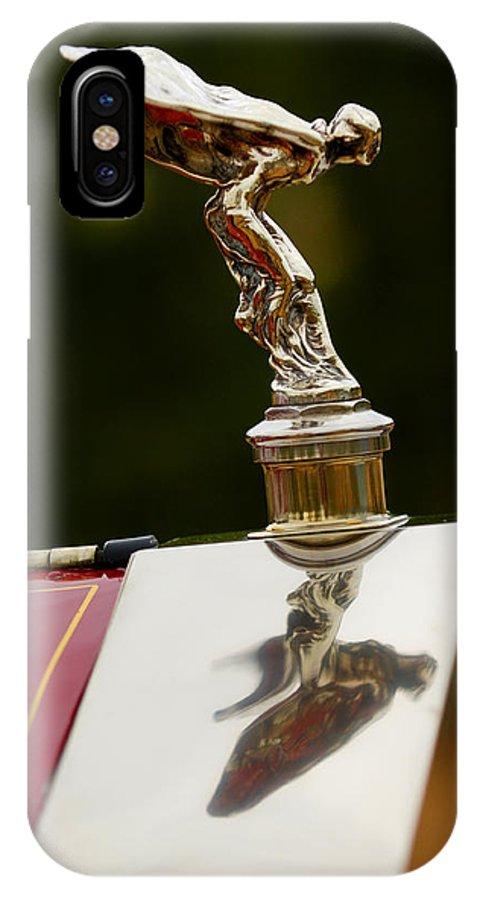 Classic Car IPhone X Case featuring the photograph 1928 Rolls-royce Phantom 1 Hood Ornament by Jill Reger