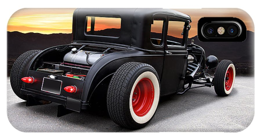 Auto IPhone X Case featuring the photograph 1929 Ford 'rock N Roll' Coupe by Dave Koontz