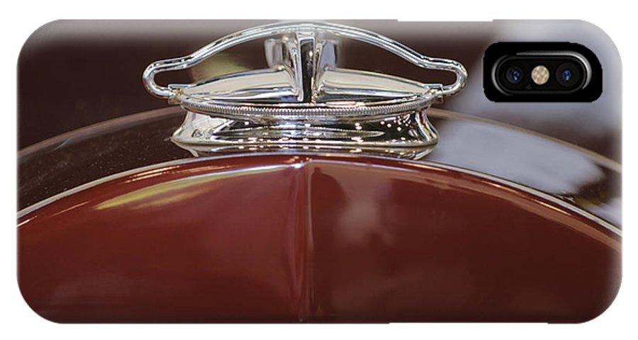 1931 Packard 840 Roadster IPhone X Case featuring the photograph 1931 Packard 840 Roadster Hood Ornament by Jill Reger