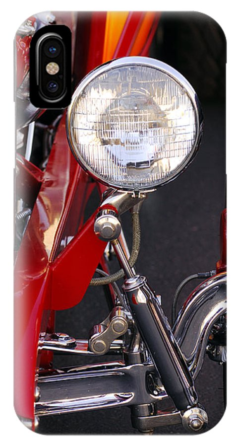 Car IPhone X Case featuring the photograph 1932 Ford Hi-boy Roadster Headlight by Jill Reger