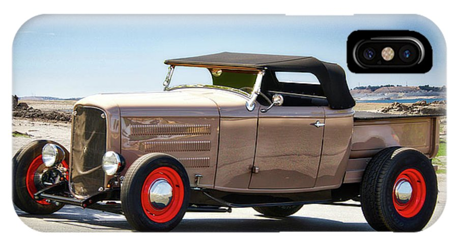 Auto IPhone X Case featuring the photograph 1932 Ford 'original Rod' Roadster Pickup by Dave Koontz