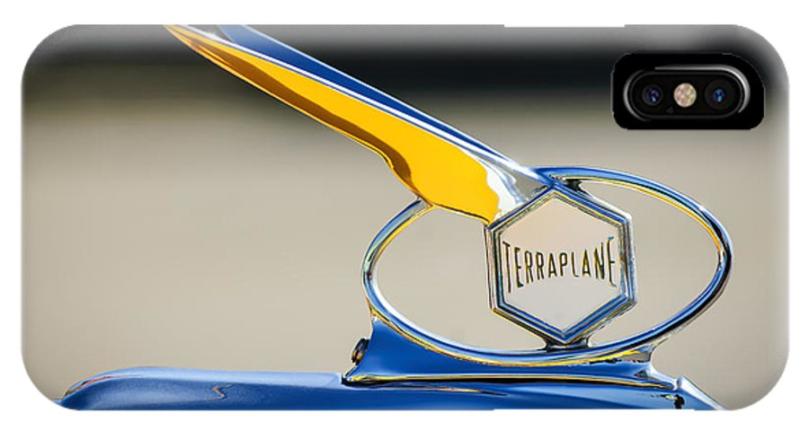 Car IPhone X Case featuring the photograph 1934 Terraplane Hood Ornament by Jill Reger