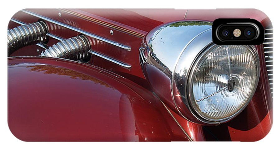 Cord IPhone Case featuring the photograph 1937 Cord Phaeton In Burgundy by Anna Lisa Yoder