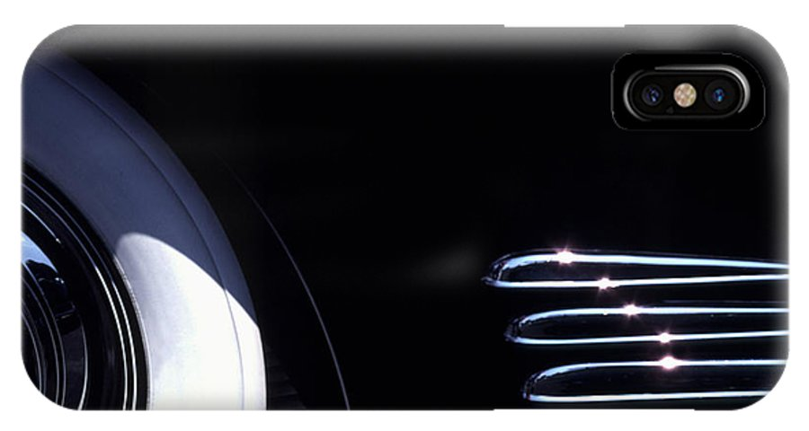 1338 IPhone X Case featuring the photograph 1938 Cadillac Limo With Chrome Strips by Anna Lisa Yoder