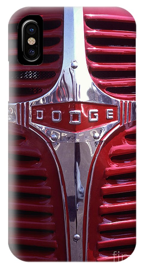 Dodge IPhone X Case featuring the photograph 1938 Dodge Pickup Front End by Anna Lisa Yoder