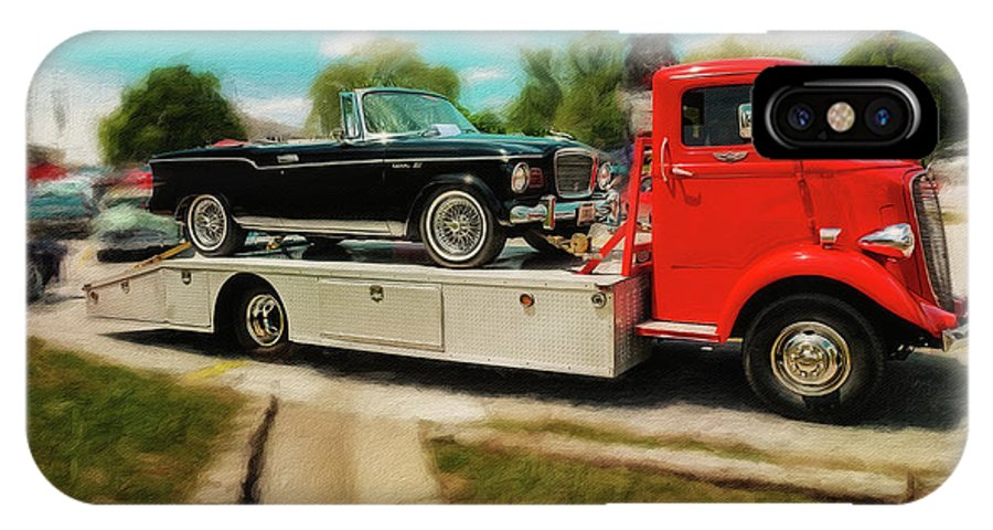 Studebaker IPhone X Case featuring the photograph 1938 Studebaker Cab Over by Rich Fiddelke