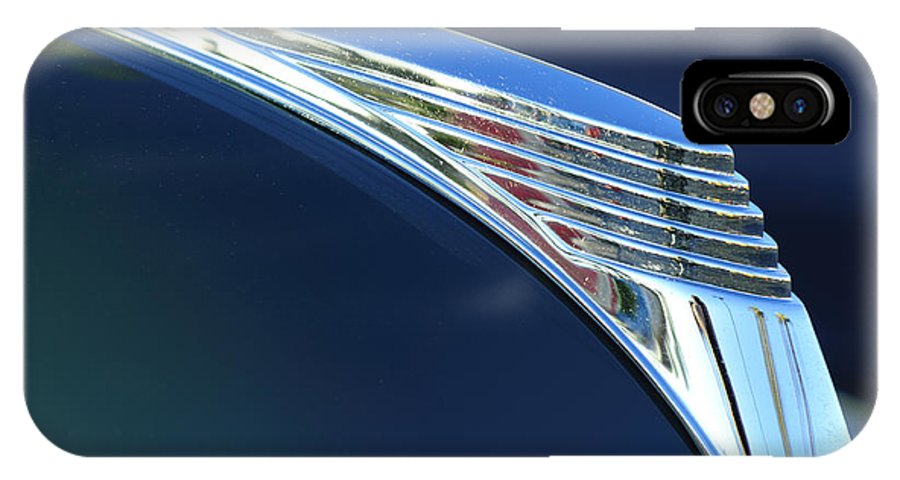 1939 Ford Deluxe IPhone X Case featuring the photograph 1939 Ford Deluxe Hood Ornament by Jill Reger