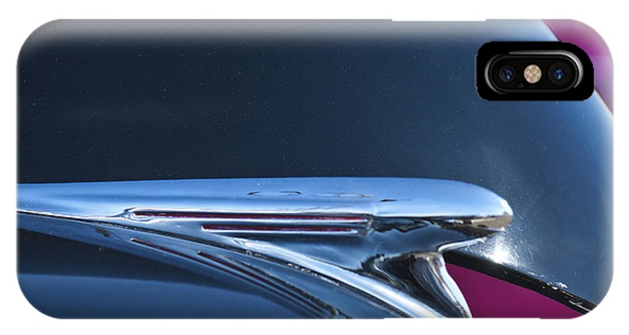 1940 Chevy Pickup IPhone X Case featuring the photograph 1940 Chevrolet Pickup Hood Ornament by Jill Reger