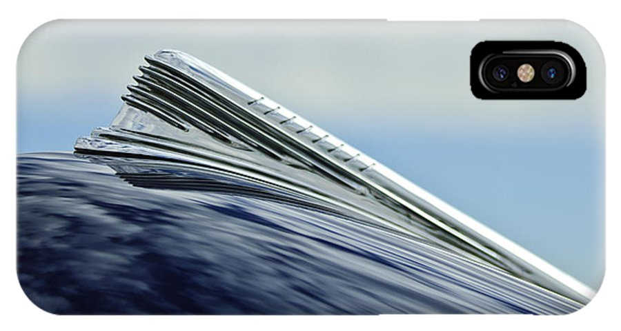1941 Chevy IPhone X Case featuring the photograph 1941 Chevrolet Hood Ornament 2 by Jill Reger