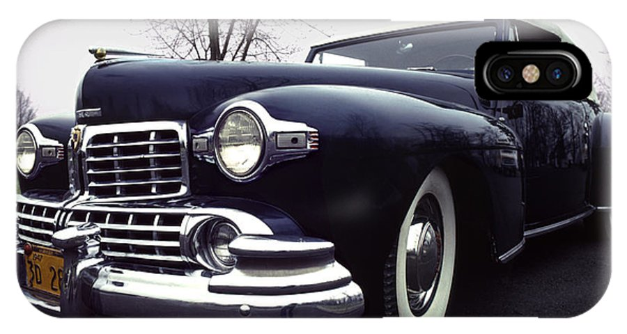 Lincoln IPhone X Case featuring the photograph 1947 Classic Lincoln Ragtop On Moody Day by Anna Lisa Yoder
