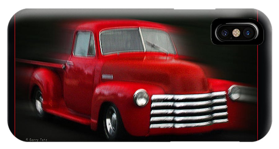 Pickup IPhone X Case featuring the photograph 1948 Chevy Pickup by Gerry Tetz
