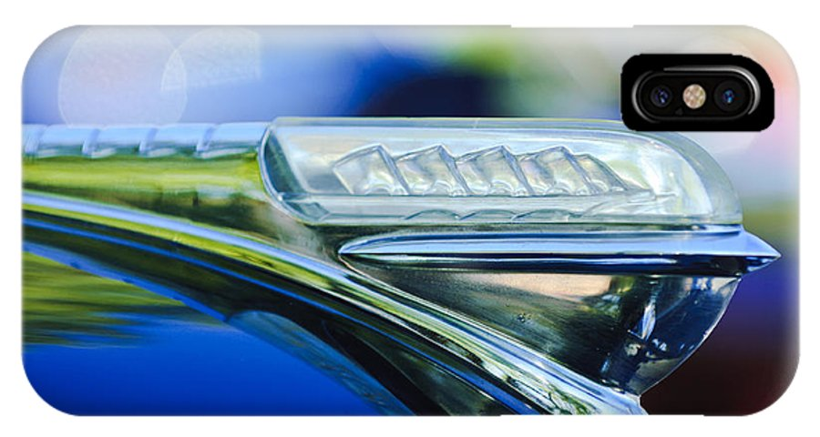 1948 Plymouth IPhone X Case featuring the photograph 1948 Plymouth Hood Ornament by Jill Reger