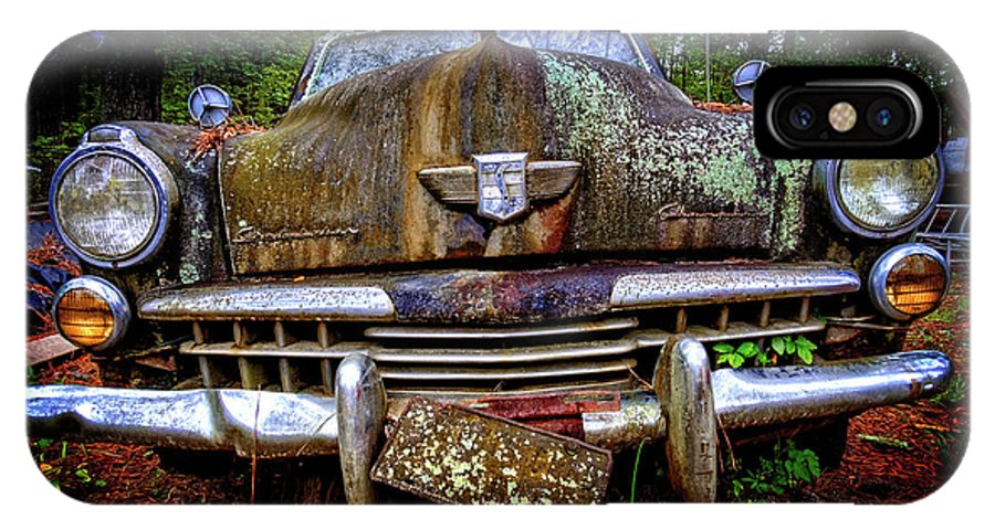 Old Car City IPhone X Case featuring the photograph 1948 Studebaker Champion by Jim Erickson