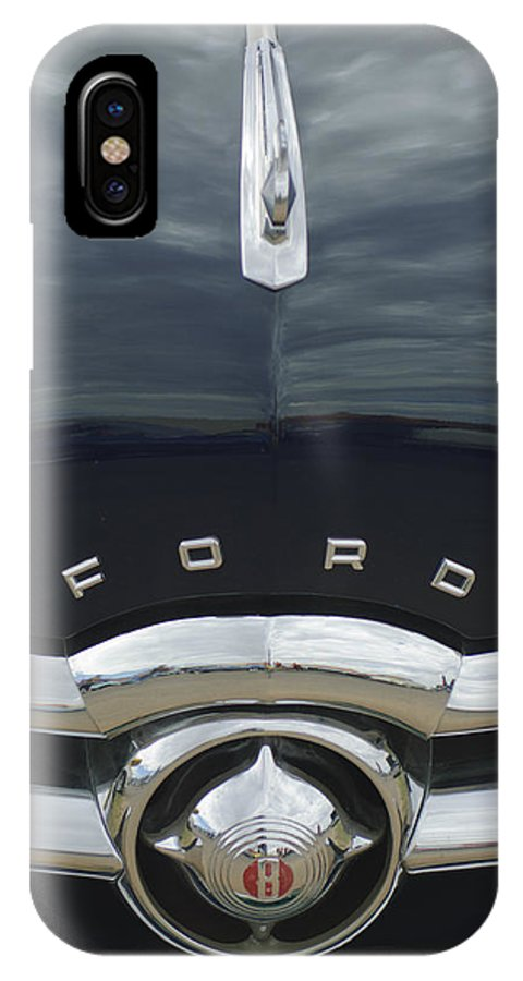 1949 Ford IPhone X Case featuring the photograph 1949 Ford Hood Ornament 4 by Jill Reger