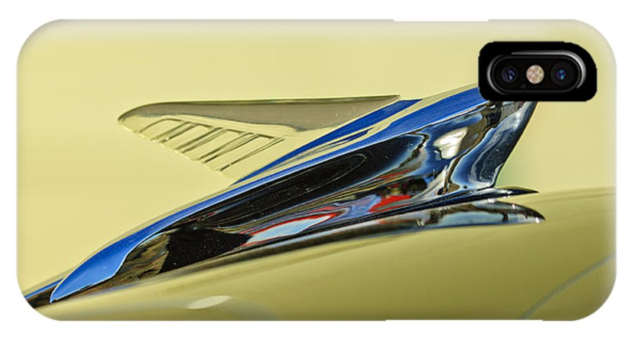 1951 Ford IPhone X Case featuring the photograph 1951 Ford Hood Ornament 2 by Jill Reger