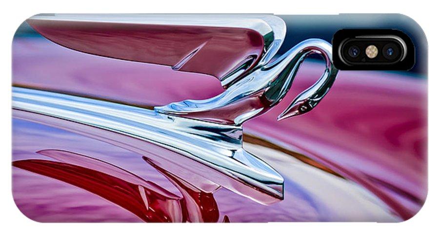 1952 Packard 400 Hood Ornament IPhone X Case featuring the photograph 1952 Packard 400 Hood Ornament by Jill Reger