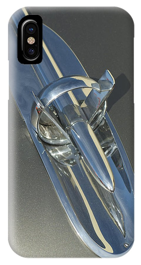 1953 Buick IPhone X Case featuring the photograph 1953 Buick Hood Ornament by Jill Reger