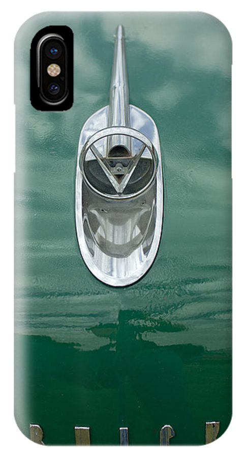 1954 Buick IPhone X Case featuring the photograph 1954 Buick Hood Ornament 2 by Jill Reger