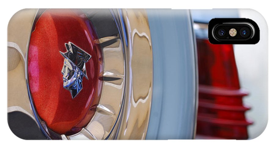 Car IPhone X Case featuring the photograph 1954 Mercury Monterey Merco Matic Spare Tire by Jill Reger