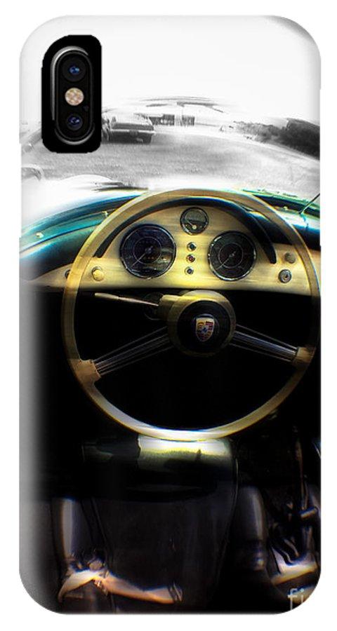 Porsche IPhone X / XS Case featuring the photograph 1956 Porsche Speedster by Steven Digman