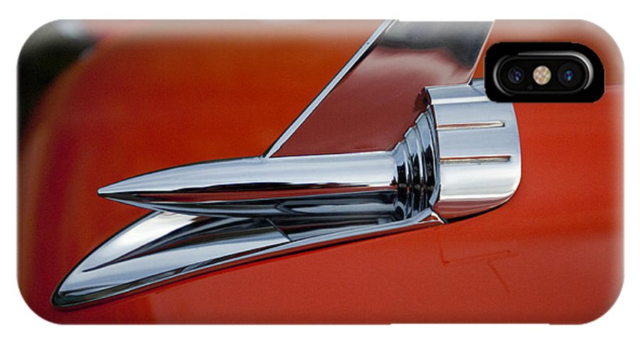 1957 Chevrolet IPhone X Case featuring the photograph 1957 Chevrolet Hood Ornament by Jill Reger