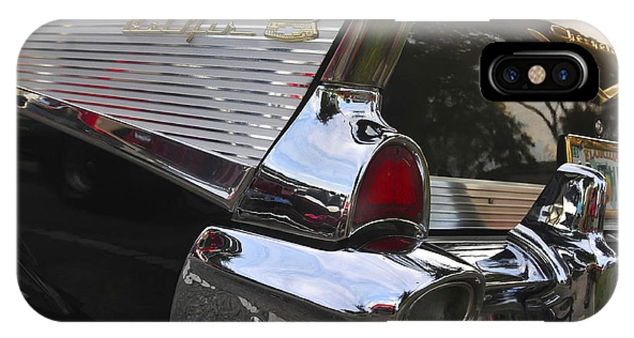 1957.chevy IPhone X Case featuring the photograph 1957 Chevy Bel-air by David Lee Thompson