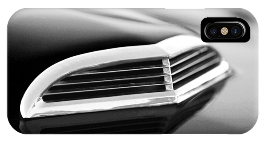 Transportation IPhone X Case featuring the photograph 1957 Thunderbird Scoop Black And White by Jill Reger