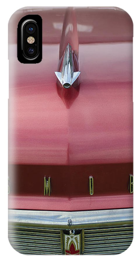 1958 Oldsmobile S-88 IPhone X Case featuring the photograph 1958 Oldsmobile S-88 Hood Ornament 2 by Jill Reger