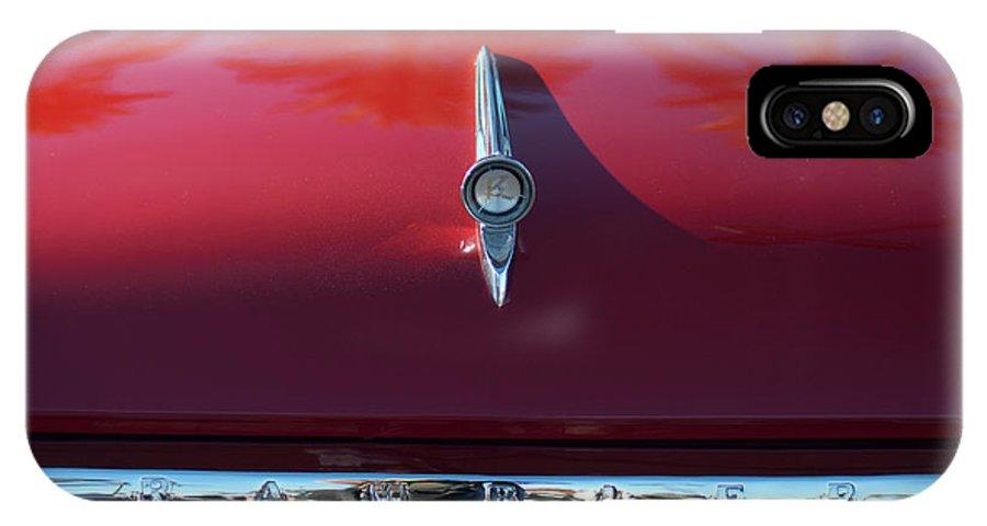 1961 Rambler IPhone X Case featuring the photograph 1961 Rambler Hood Ornament 2 by Jill Reger