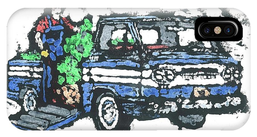 Corvair IPhone X Case featuring the painting 1962 Corvan by Dick Gallagher