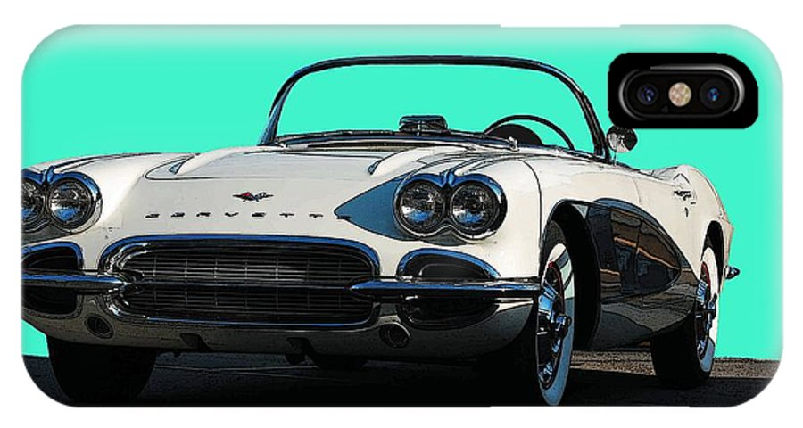 Corvette IPhone X Case featuring the photograph 1962 Corvette by Robert Meanor