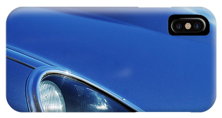Transportation IPhone X Case featuring the photograph 1963 Jaguar Xke Roadster Headlight by Jill Reger