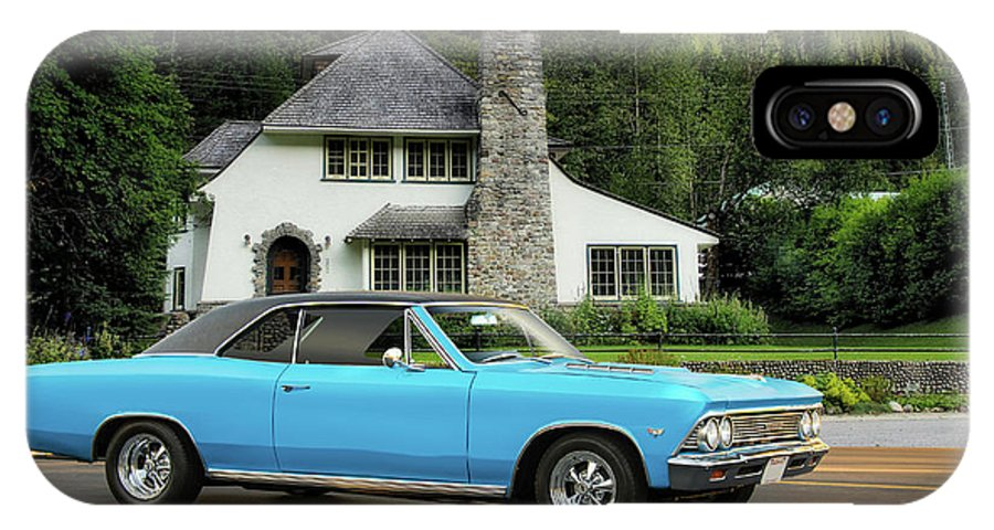 Automobile IPhone X Case featuring the photograph 1966 Chevlelle Maibu Hardtop by Dave Koontz
