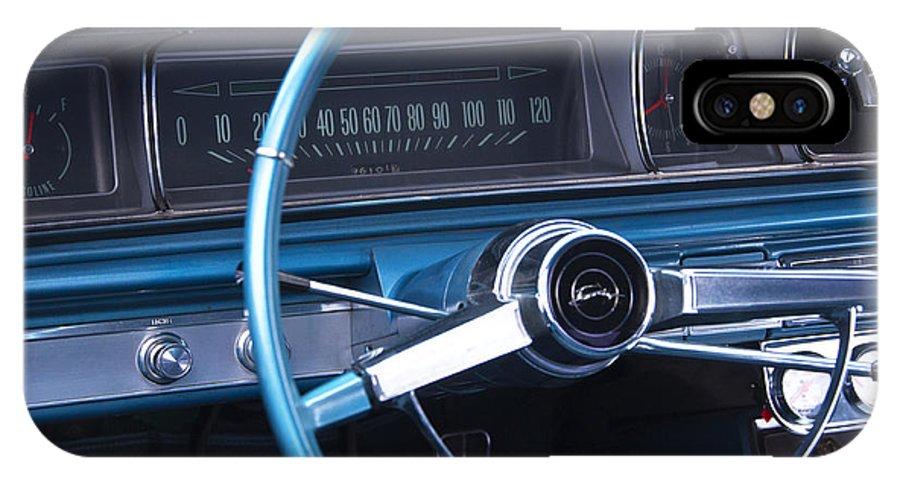 1966 Chevrolet Impala IPhone X Case featuring the photograph 1966 Chevrolet Impala Dash by Glenn Gordon