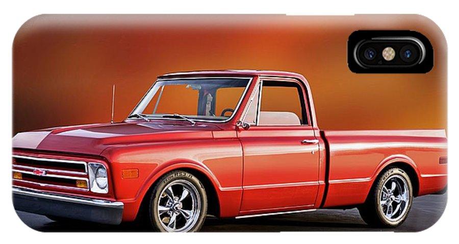 1967 Chevrolet C10 Fleetside Pickup Iphone X Case