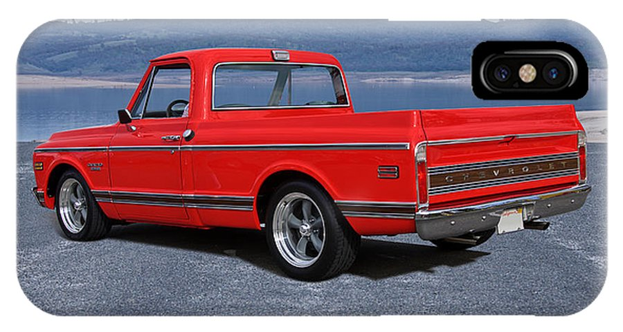 Auto IPhone X Case featuring the photograph 1969 Chevrolet Cst10 Pickup II by Dave Koontz
