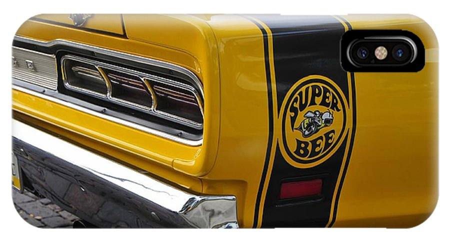 Dodge Charger Super Bee IPhone X Case featuring the photograph 1969 Super Bee by David Lee Thompson